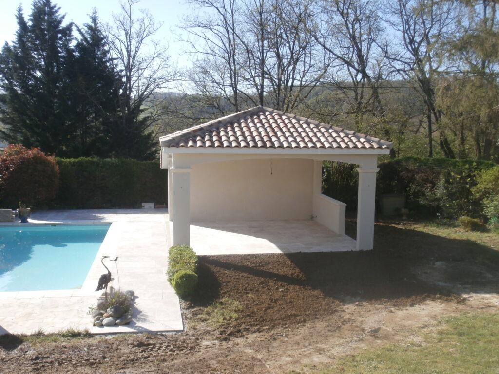 construction piscine traditionnelle Valence d'Agen