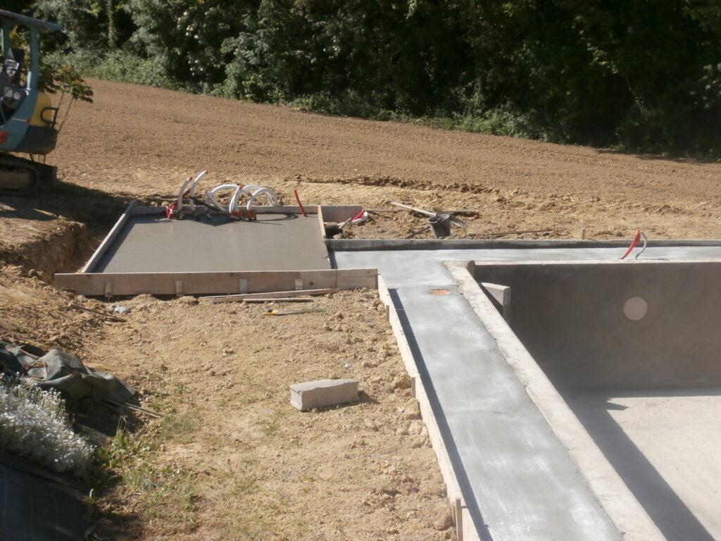 construction piscine maçonnée Valence d'Agen